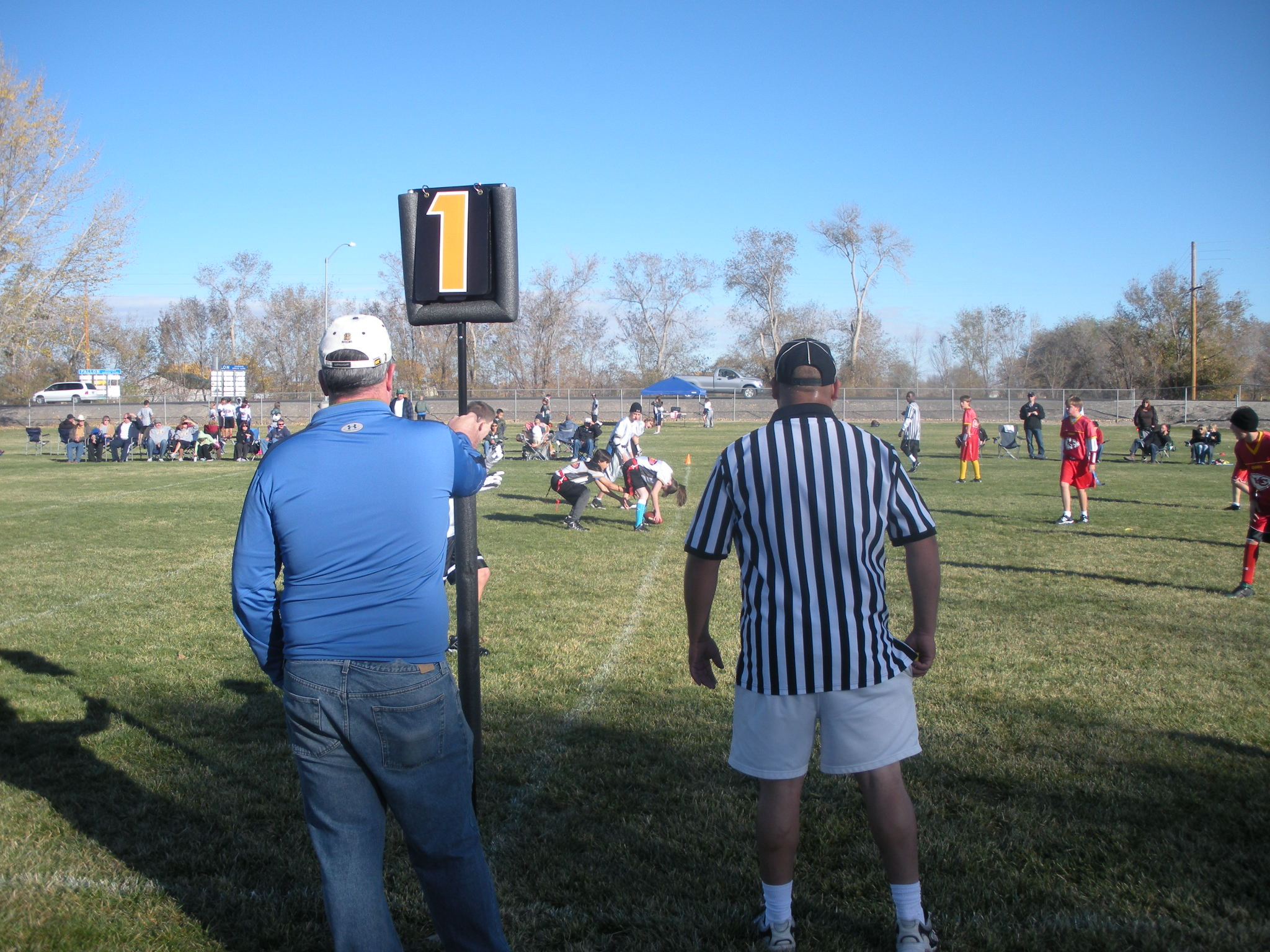 Officials at Soccer Game