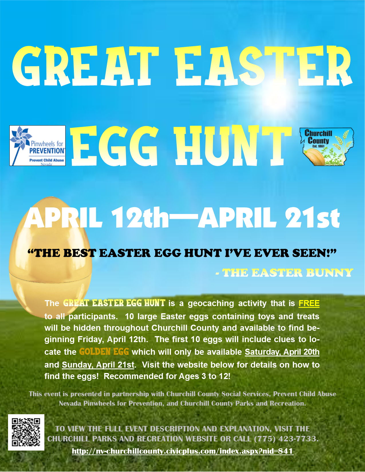 The Great Easter Egg Hunt Flyer