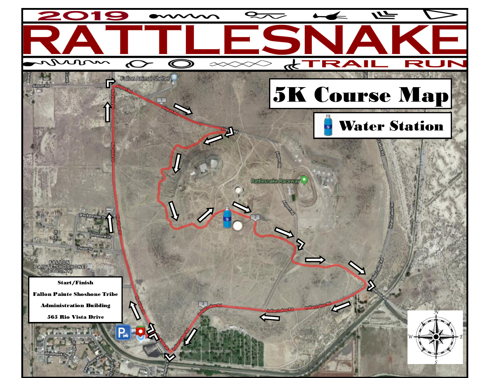 Rattlesnake Trail Run (2019) - 5K Course Map.png